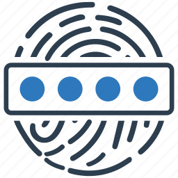 biometric, finger, fingerprint, password, protection icon