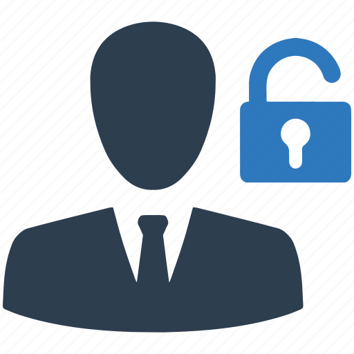 account, password, people, profile, security, unlock, user icon