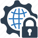 global, internet, protection, security, settings, shield, web icon