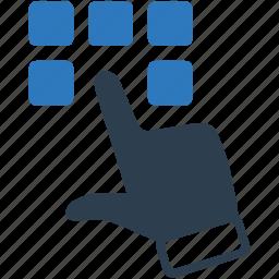 cursor, dial, pad icon
