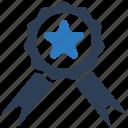 achievement, award, reputation, ribbon icon