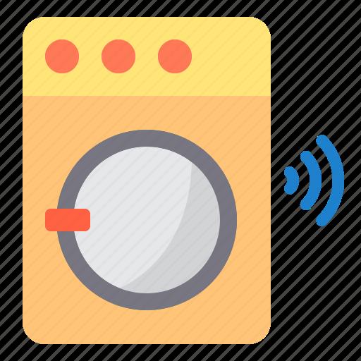 electronic, home, machine, smart, technology, washing icon