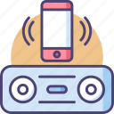 bluetooth, speaker, audio, wireless, connect, music, smartphone icon