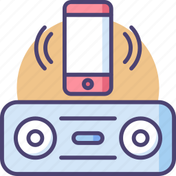 audio, bluetooth, connect, music, smartphone, speaker, wireless icon