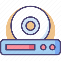 cd, disk, file, media, music, play, player icon
