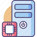 computer, cpu, hardware, microchip, pc, processor icon
