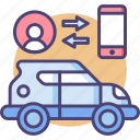 automobile, car, connection, control, transportation, travel, user icon