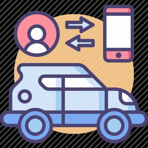 automobile, car, connection, control, transportation, travel, user icon