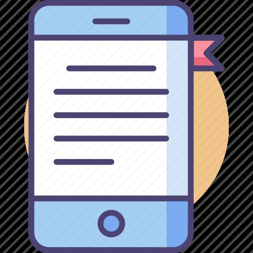 book, digital, ebook, knowledge, library, read, study icon