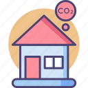 carbon, footprint, construction, house, property, ecofriendly, emission