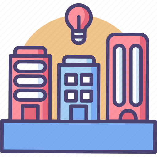 artificial, automation, computerized, intelligent, smart, system, urbanism icon