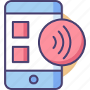 contactless, device, nfc, portable, smartphone, technology, transfer icon