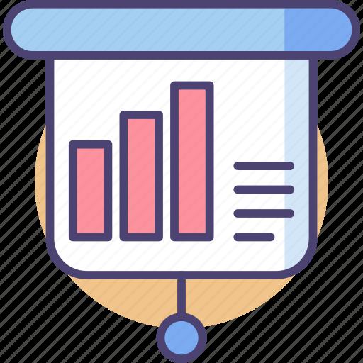 analytics, chart, data, document, information, input, statistic icon
