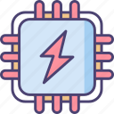 electricity, energy, function, power, processing, system icon