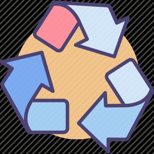 environment, garbage, process, recycle, reprocess, trashbin icon