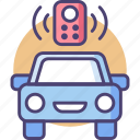 automation, automobile, car, control, distant, remote, vehicle icon