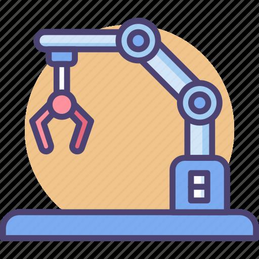industry, intelligence, machine, robot, robotics, technology icon