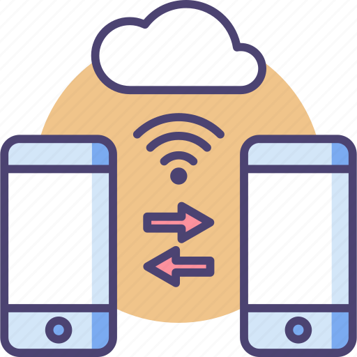 cloud, connect, device, gadget, network, smart, smartphone icon