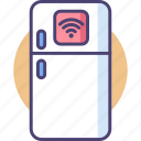 food, fridge, kitchen, refrigerator, smart, storage, technology icon