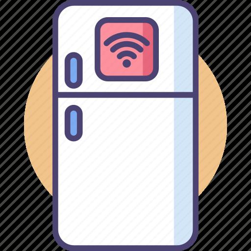 Fridge, smart, food, kitchen, refrigerator, storage, technology icon - Download on Iconfinder