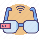 accessories, device, gadget, glasses, internet, smart, technology icon