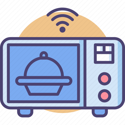 appliance, cooking, food, heat, kitchen, microwave, smart icon