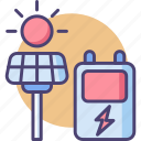 electricity, gadget, management, product, smart, solarsystem, technology icon