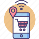 buy, cart, ecommerce, retail, sale, shopping, smart icon