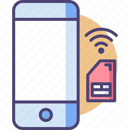 cell, communication, mobile, network, sim, smart, smartphone icon