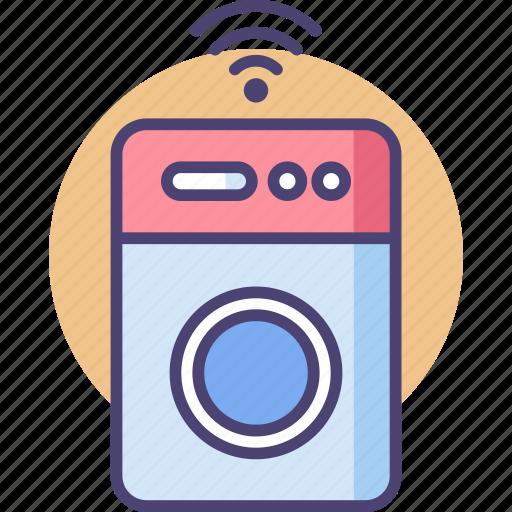 electronics, laundry, machine, network, smart, technology, washing icon