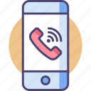 call, communication, device, mobile, smartphone, technology icon