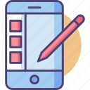 app, mobile, screen, smartphone, stylus, tablet icon