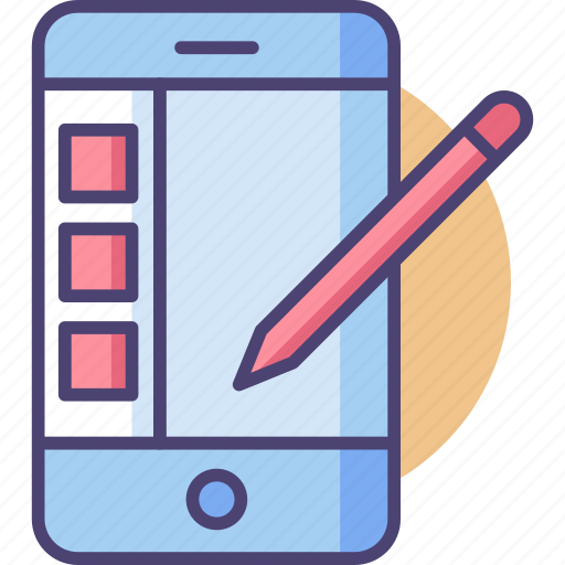 Tablet, app, mobile, screen, smartphone, stylus icon - Download on Iconfinder