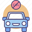 control, emission, vehicle, car, eco, transportation, travel icon