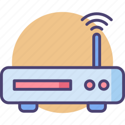 communication, internet, network, router, signals, wifi, wireless icon