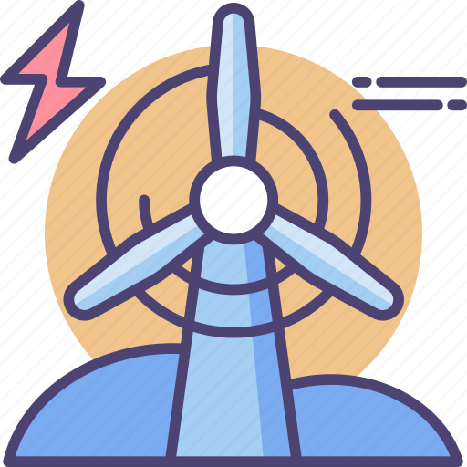 battery, eco, electricity, energy, power, weather, wind icon