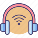 audio, headset, music, play, sound, volume, wireless icon