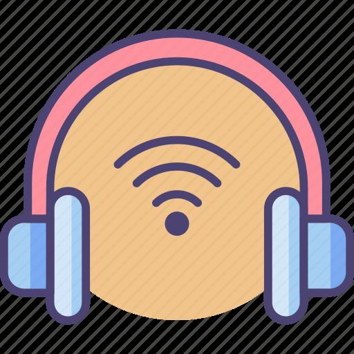 audio, headset, music, play, sound, volume, wireless icon