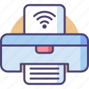 internet, network, paper, picture, printer, wifi, wireless icon