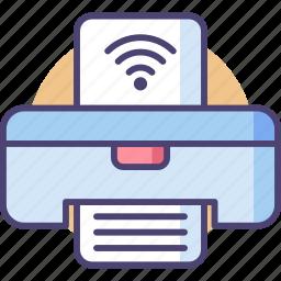 internet, network, paper, picture, printer, wifi, wireless icon