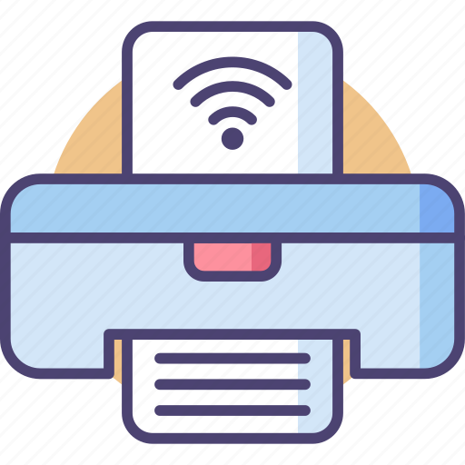 Printer, wireless, internet, network, paper, picture, wifi icon - Download on Iconfinder
