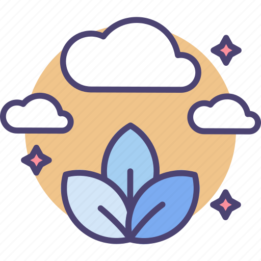 clouds, eco, emission, environment, leaves, nature, zero icon