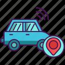 autonomous, car, technology icon