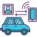 car, connected, technology icon