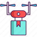 delivery, drone, technology icon