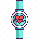 fitness, technology, tracker icon