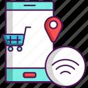 retail, smart, technology icon