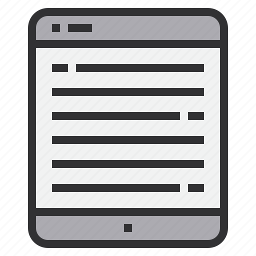 book, e, electronic, home, smart, technology icon