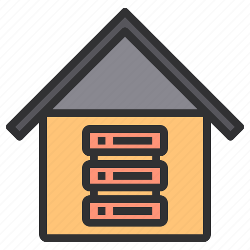 electronic, home, server, smart, technology icon