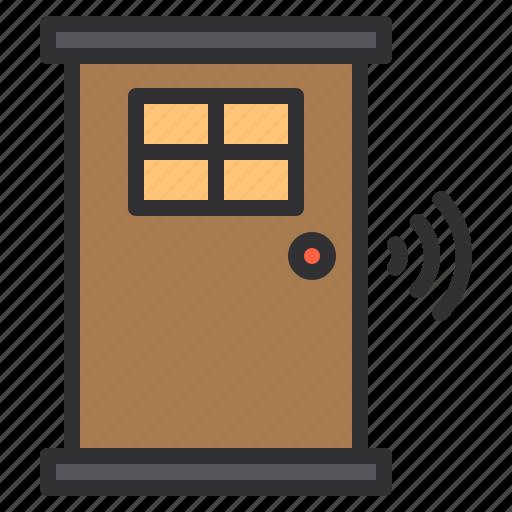 door, electronic, home, smart, technology icon